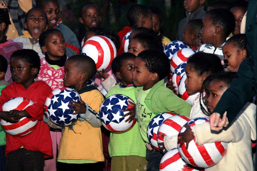 South African Children Wait to Meet Dr. Jill Biden