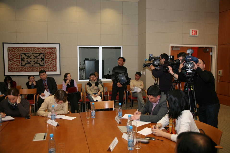 Members of the Press Participate in a Media Roundtable With Assistant Secretary Blake