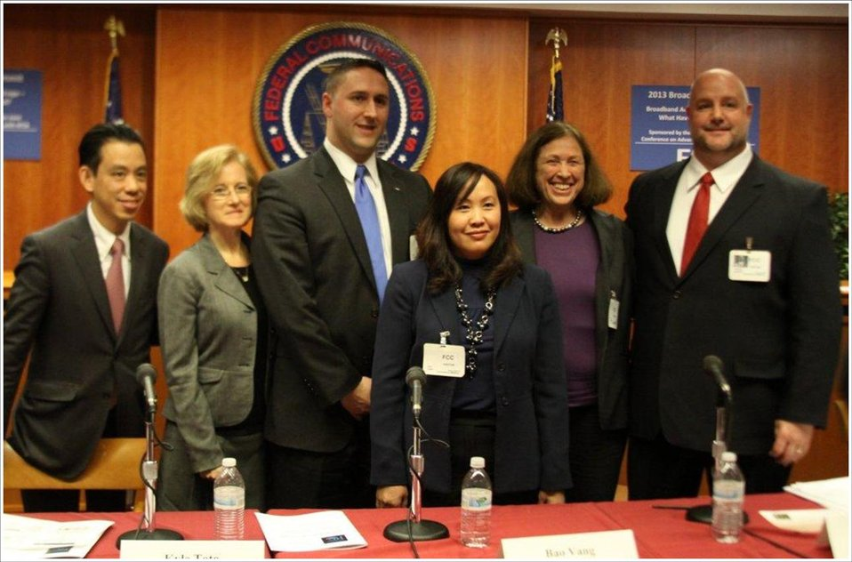 Commissioner Geoffrey Why (MA), Moderator,  Deb Socia, Kyle Toto, Bao Vang, Sybil Boutilier, and Derrick Bulawa
