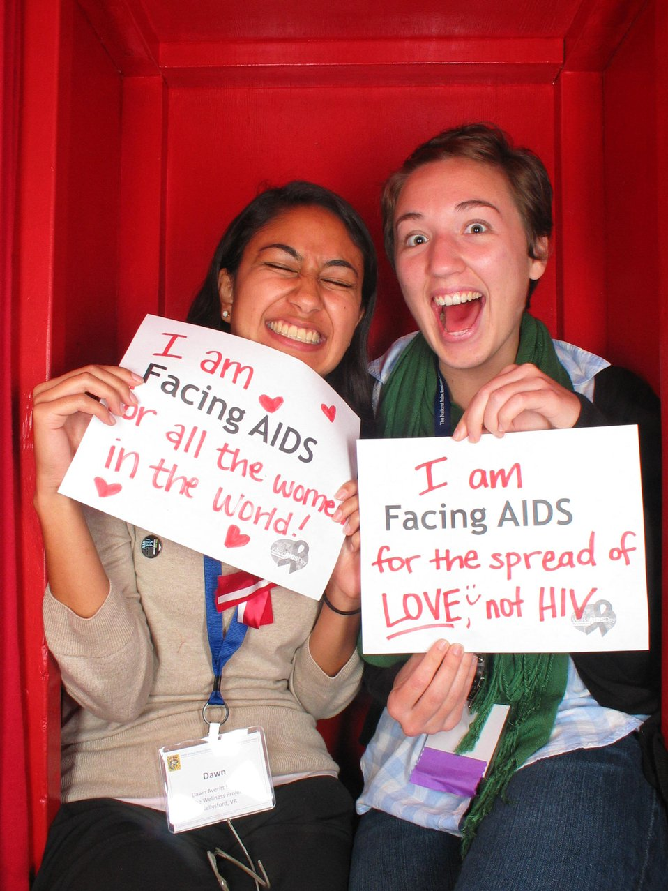 I am Facing AIDS for all the women in the world! I am Facing AIDS for the spread of LOVE not HIV