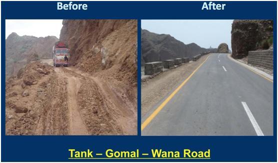 Tank- Gomal- Wana Road.