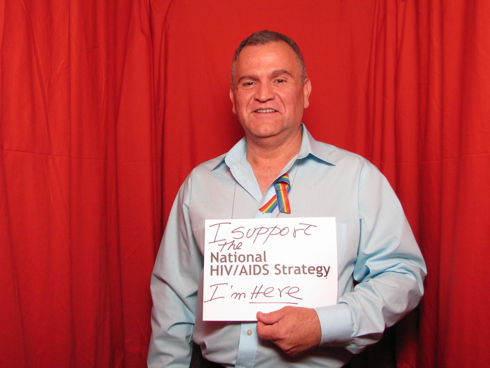 I support the National HIV/AIDS Strategy. I'm here