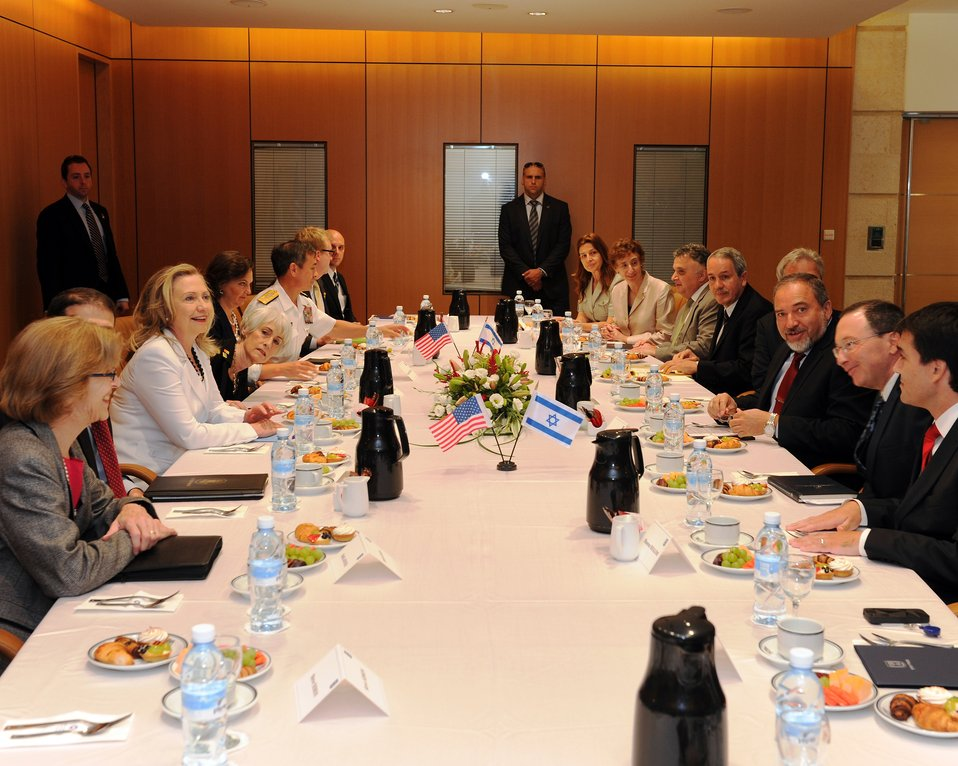 Secretary Clinton With Israeli Foreign Minister Lieberman