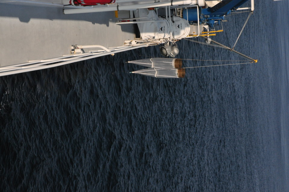 August 2009, View from the top deck of the plankton nets