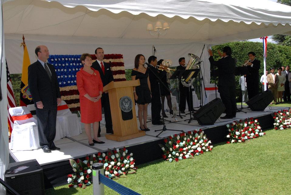 July 4th Celebration at U.S. Embassy in Ecuador