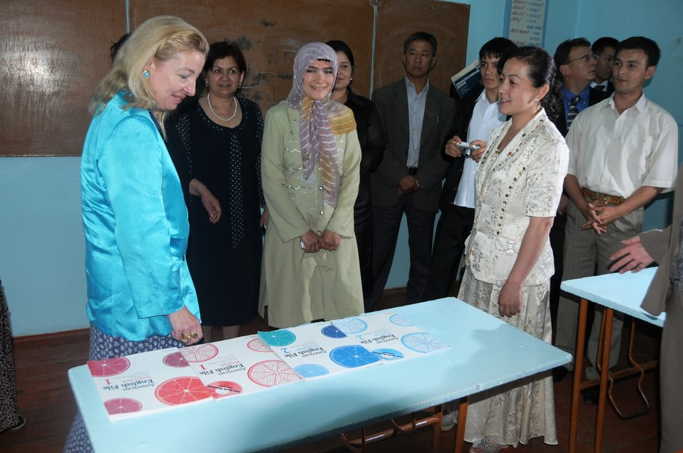 Ambassador Gfoeller Visits an American Pilot School in Kyrgyzstan