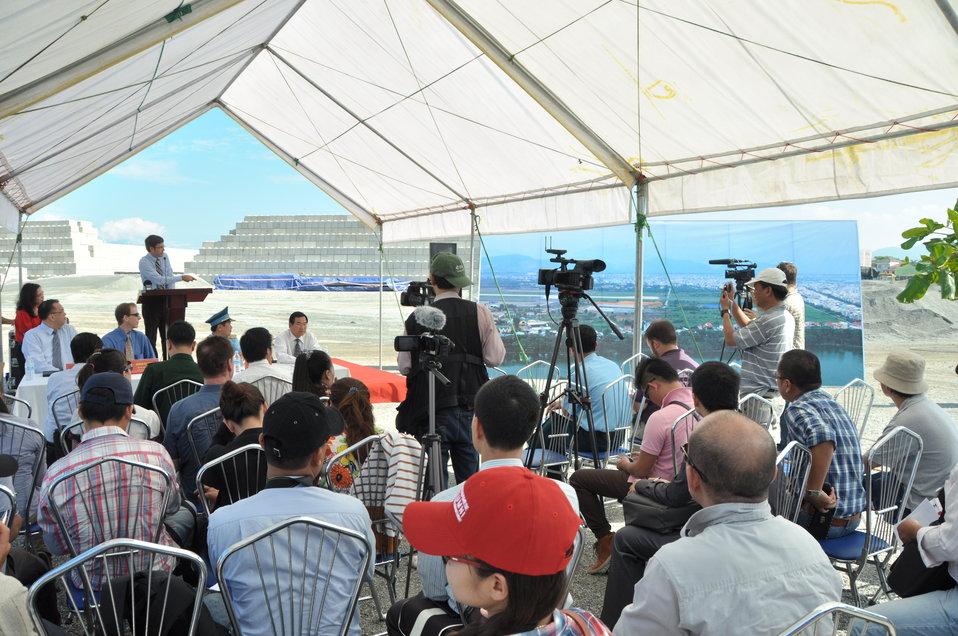 Media Tour of Environmental Remediation of Dioxin Contamination at Danang Airport