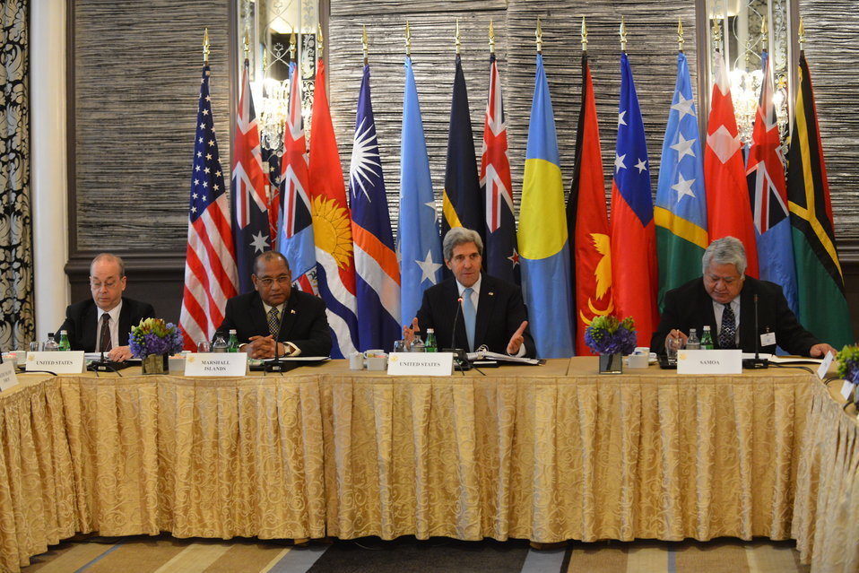 Secretary Kerry at the Pacific Islands Forum