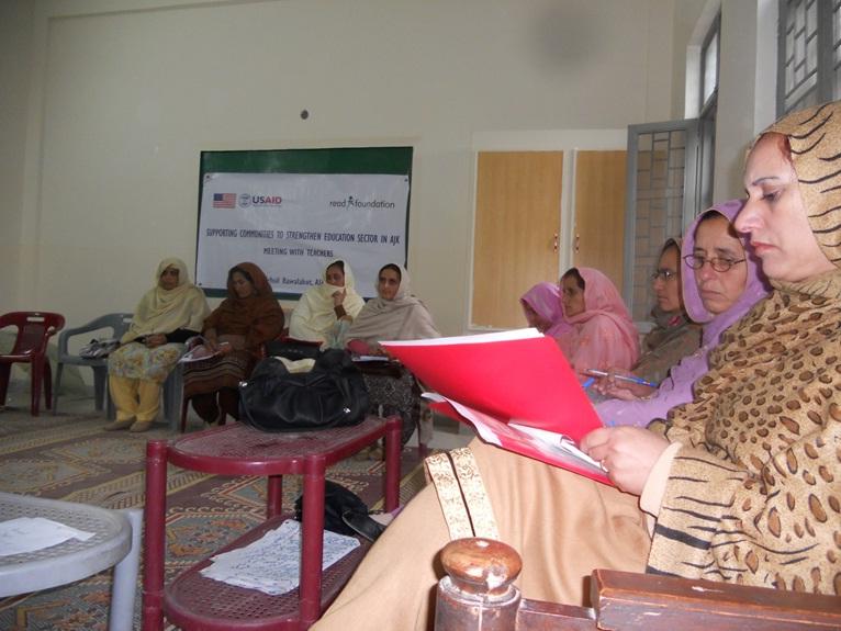 Caption 17 - READ Foundation - AJK RWLKT - Meeting Community for Education 3