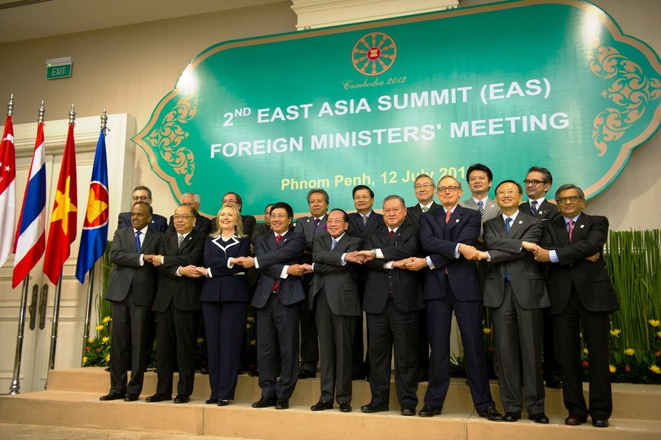 Secretary Clinton With Foreign Ministers at the East Asia Summit