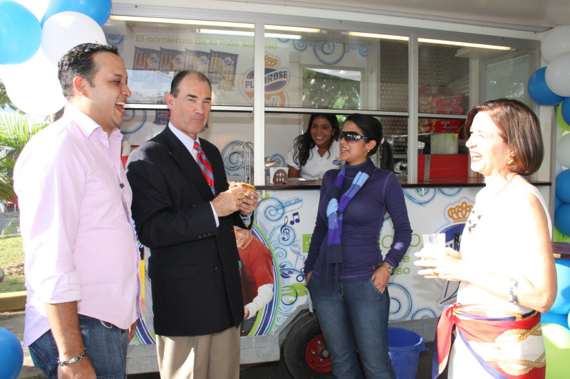 Ambassador Duddy and His Wife Mary Duddy Visit With Vendors