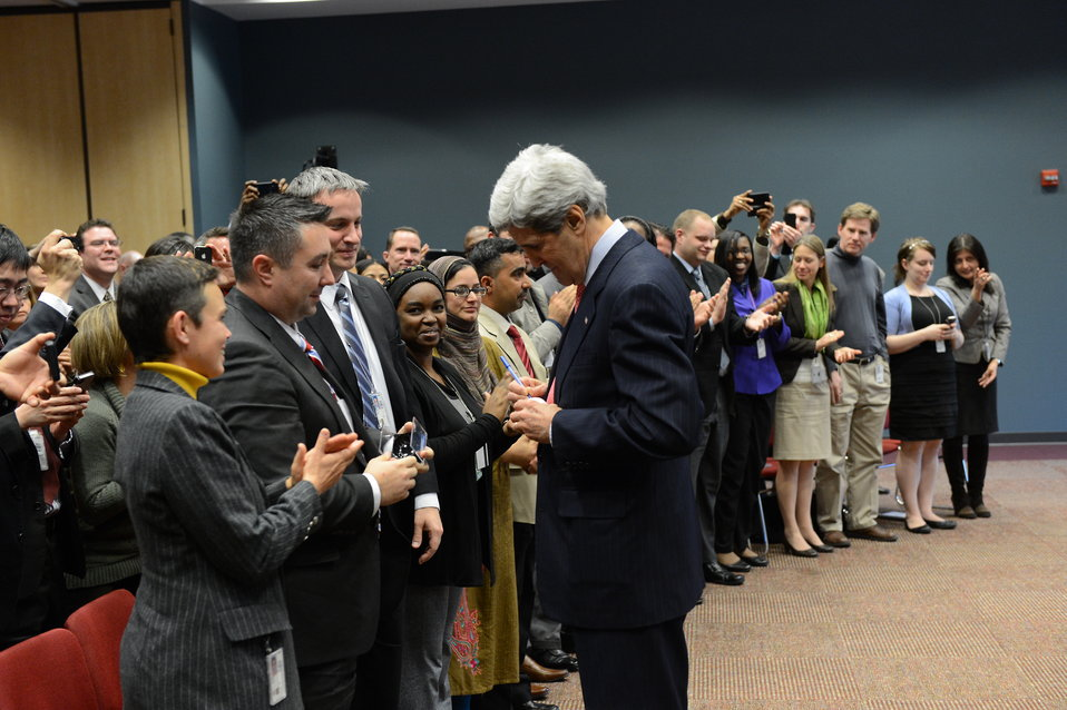 Secretary Kerry Visits the Foreign Service Institute