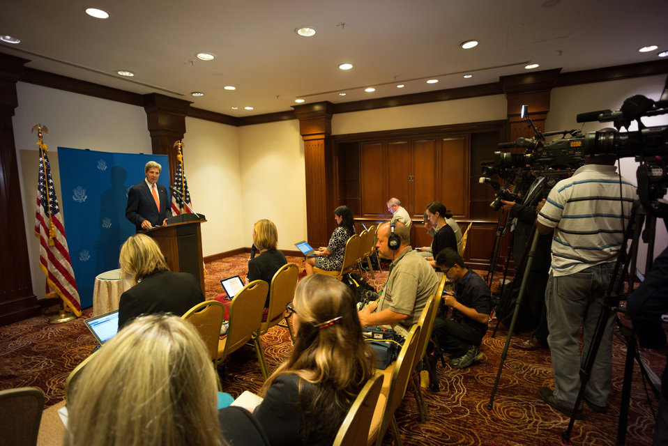 Secretary Kerry Addresses Reporters in Kuala Lumpur, Malaysia