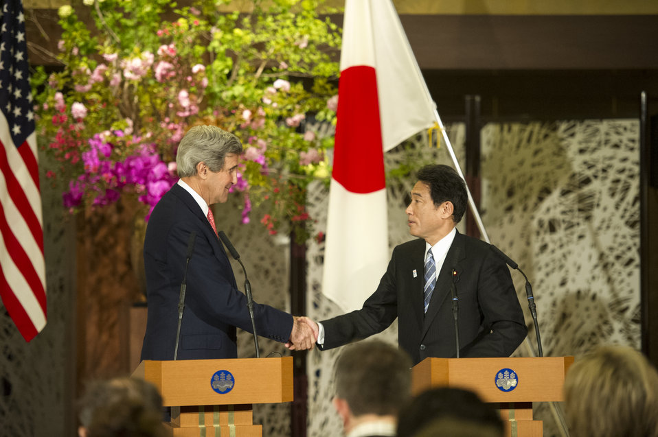 Secretary Kerry With Japan's Foreign Minister Kishida