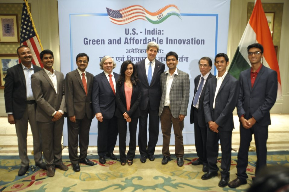 Secretary Kerry attends an India Tech Expo