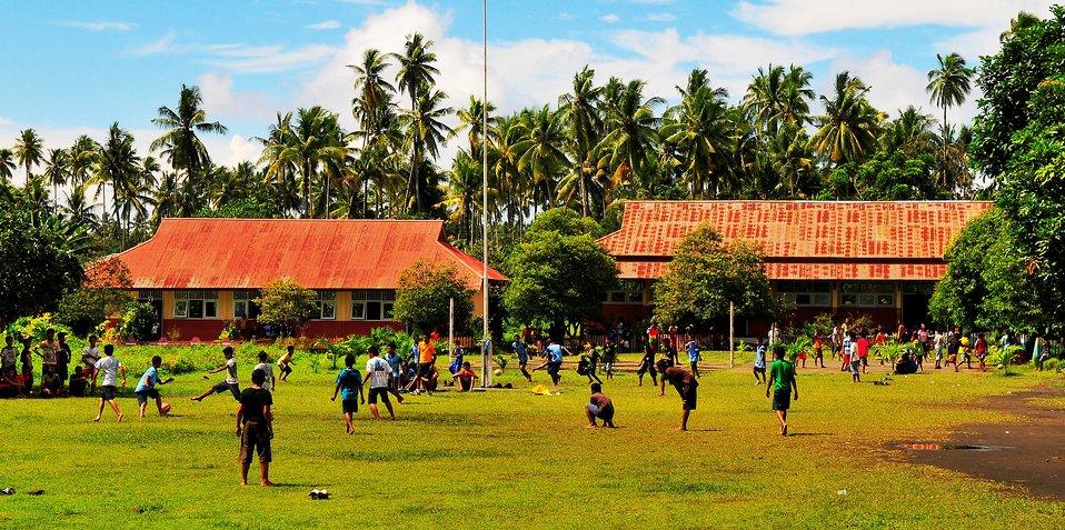 Children Play Soccer