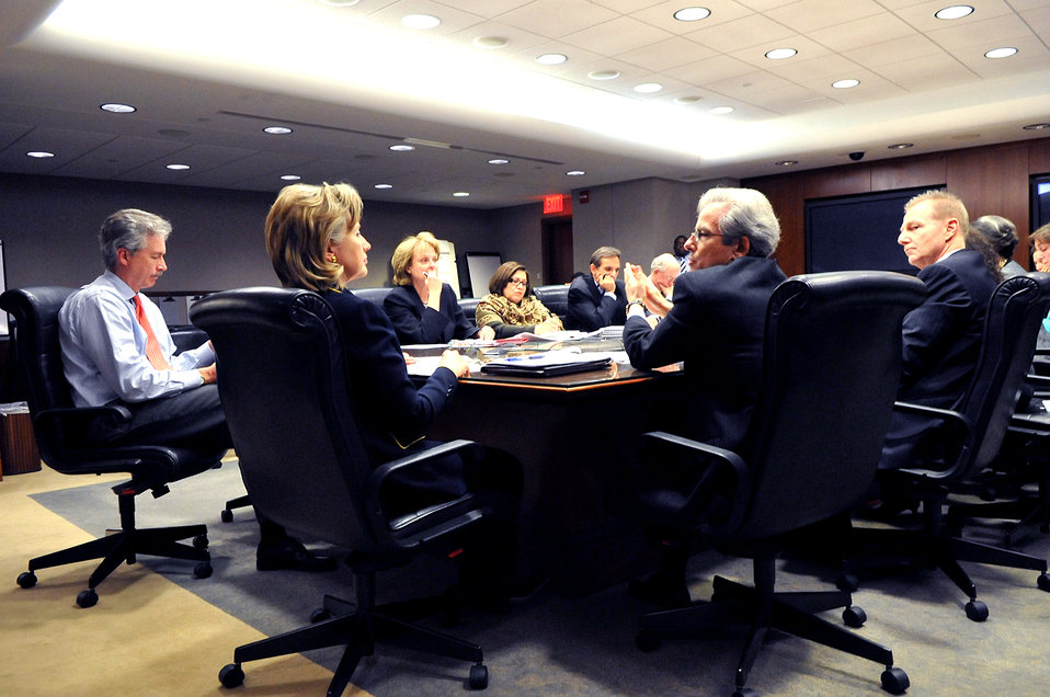 Secretary Clinton Meets With Her Messaging Team