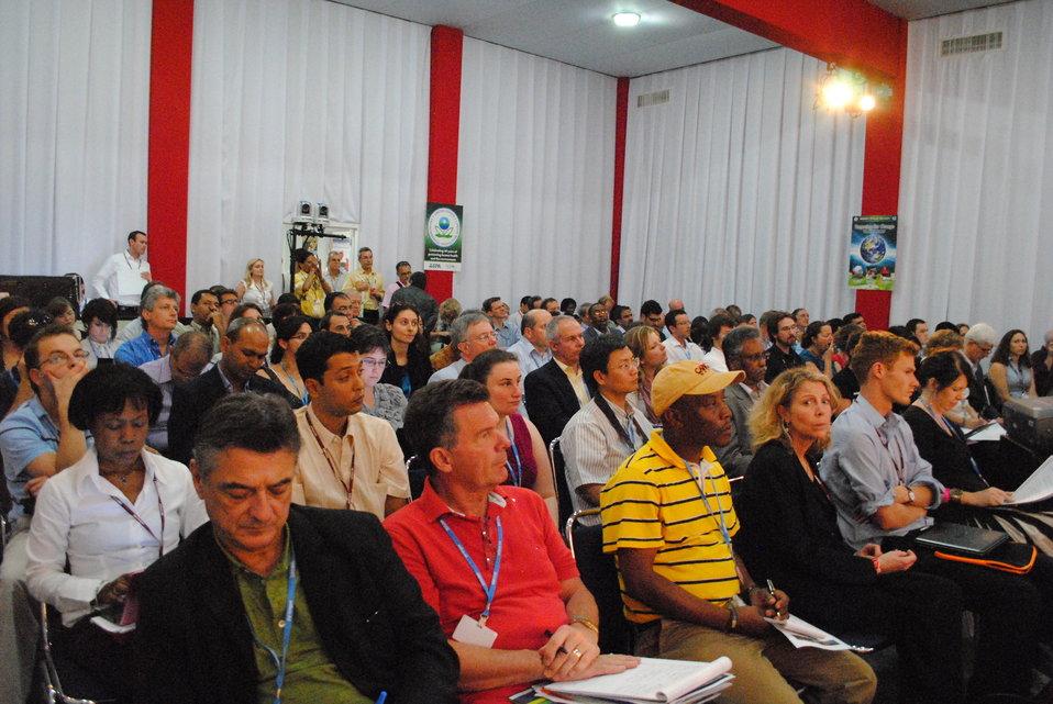 Audience Members Listen to Deputy Special Envoy Pershing