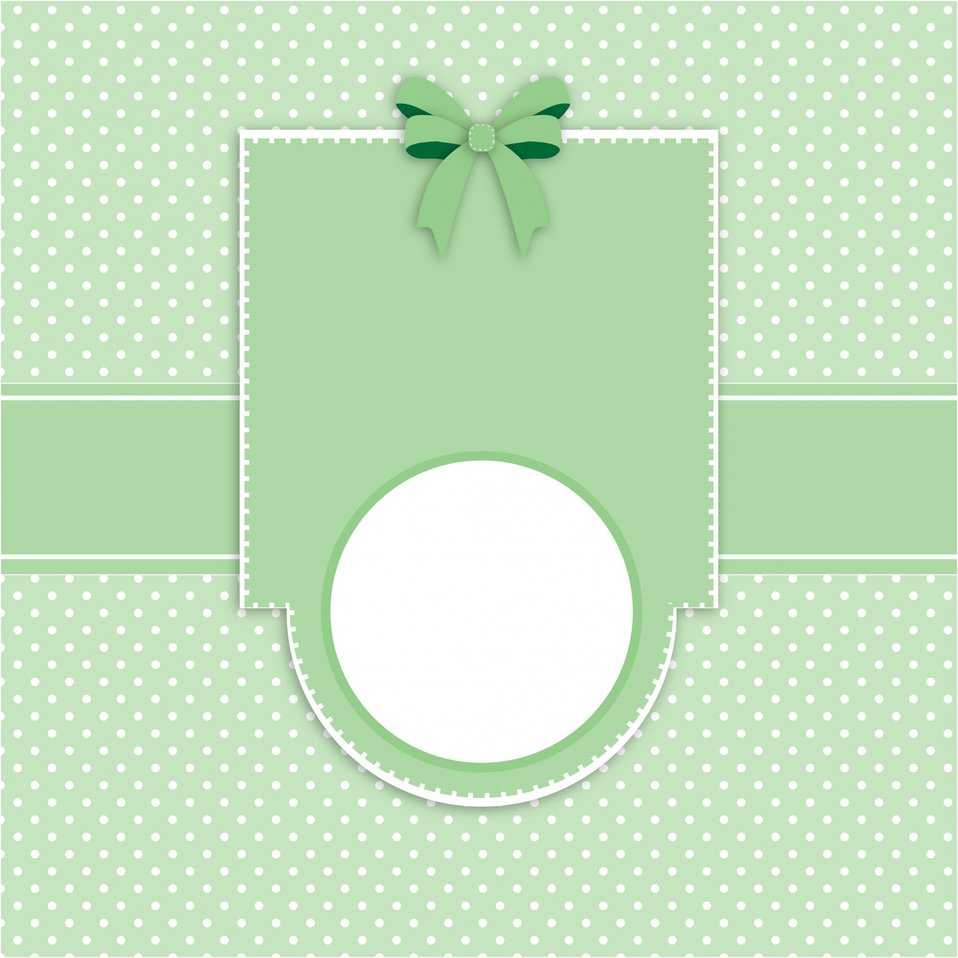 Card invitation polka dots template