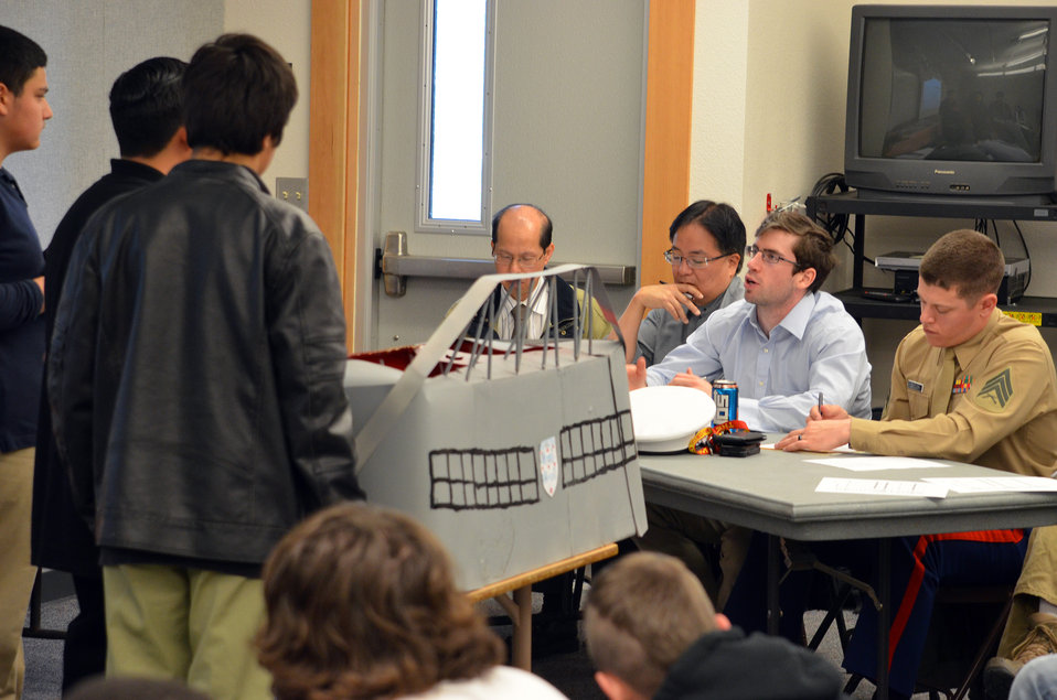 District Engineers judge students 'Modern Marvels' projects