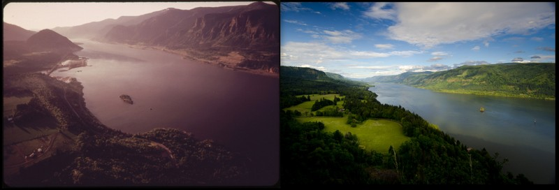 Columbia River Gorge 1973 and 2012