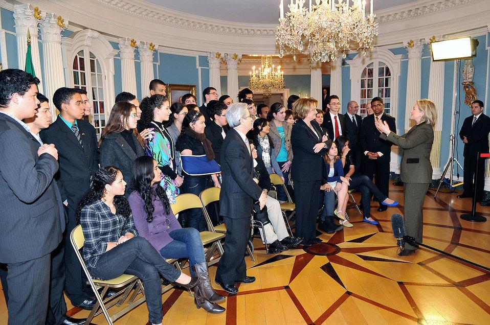Secretary Clinton Speaks With Brazilian Youth Ambassadors