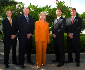 Secretary Clinton With Officers of the Marines