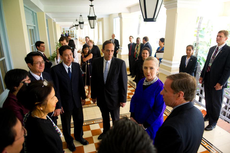 Secretary Clinton at the Human Rights Roundtable