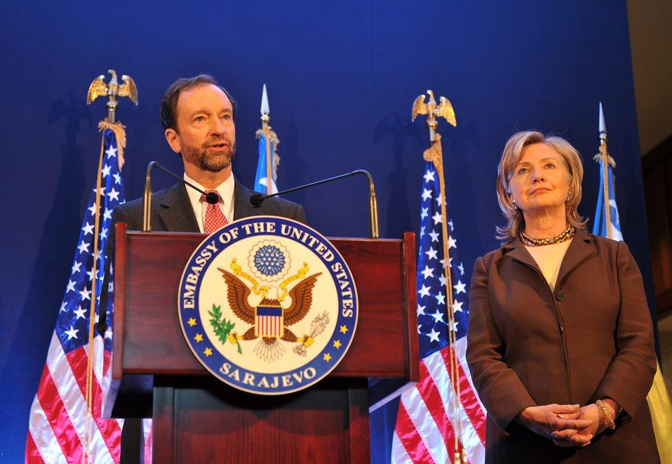 Ambassador Moon Introduces Secretary Clinton