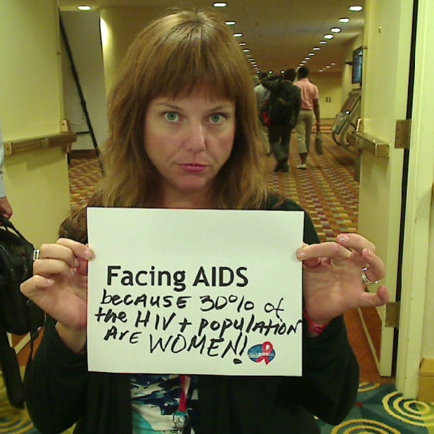 Facing AIDS because 30% of the HIV   population are WOMEN!