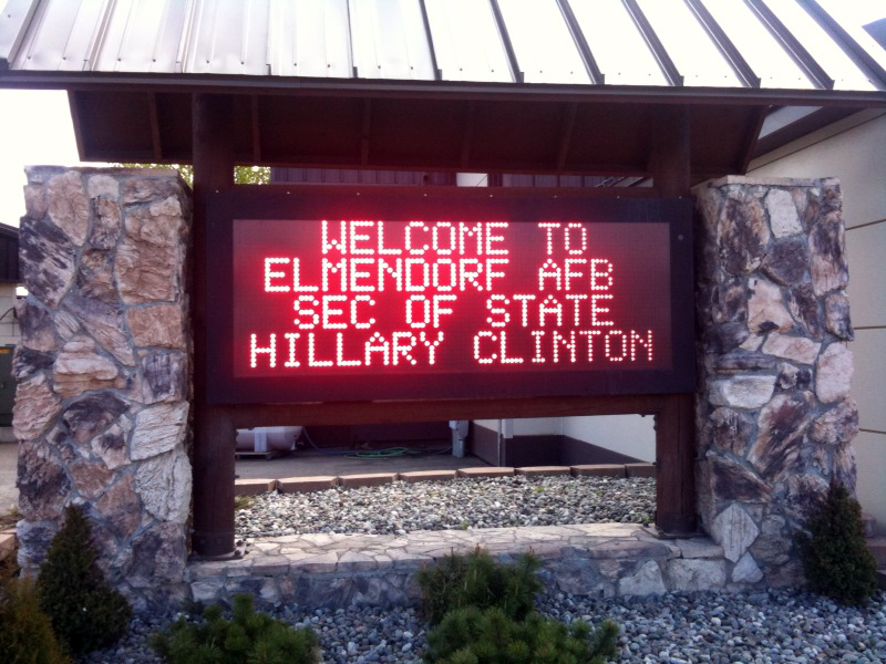 Behind the Scenes: USAF Welcomes Secretary Clinton to Alaska