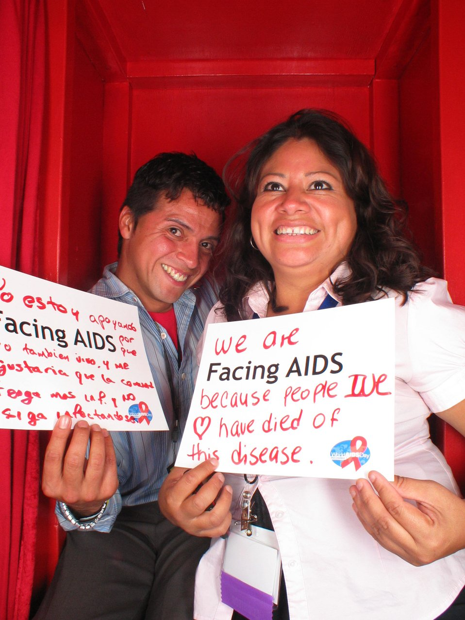 We are Facing AIDS because people we love have died of the disease.