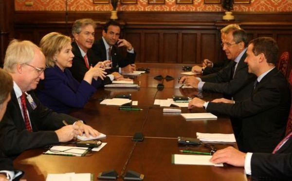 Secretary Clinton With Russian President Medvedev