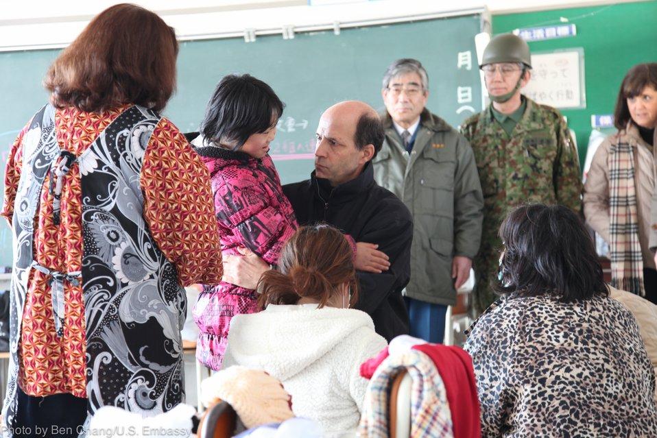 Ambassador Roos Visits Disaster Victims