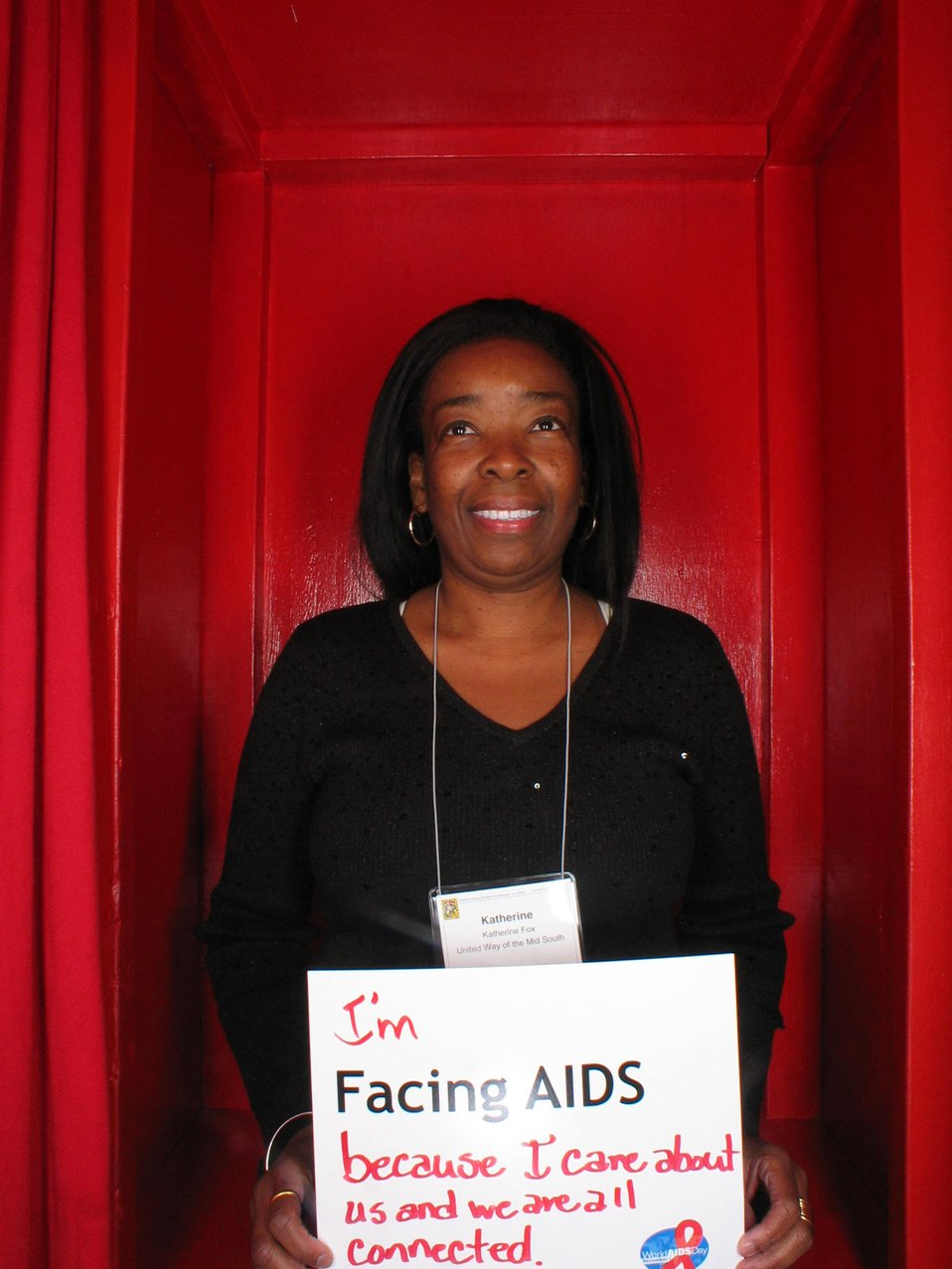 I'm Facing AIDS because I care about us and we are all connected.