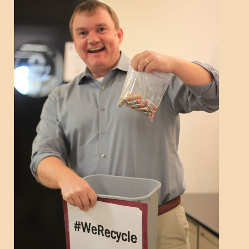 EPA Employee Michael Recycles