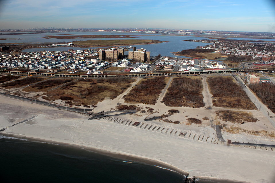 December 6, 2012 Damage to Rockaway Park Boardwalk, Queens, New York