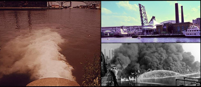 Then and Now, Cuyahoga River, Ohio