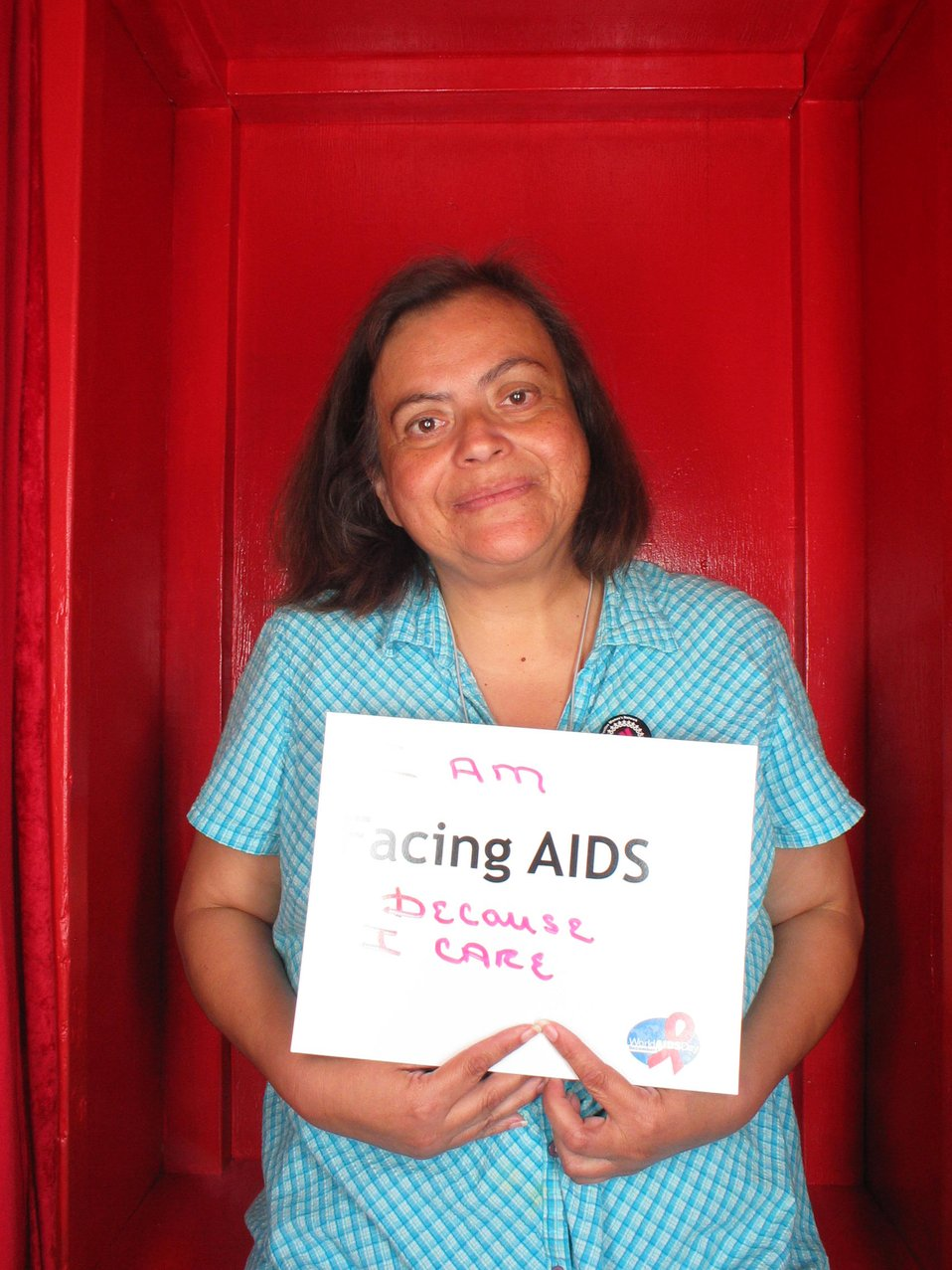 I am Facing AIDS because I care.