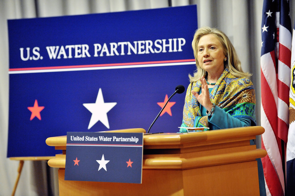 Secretary Clinton Delivers Remarks on World Water Day