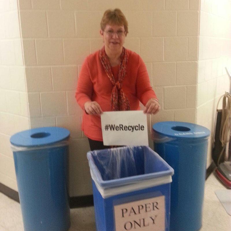 EPA Employee Debbie Recycles