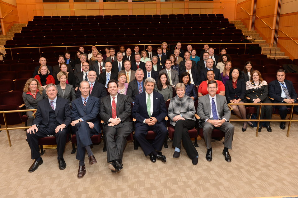 Secretary Kerry Poses for a Photo at the Foreign Policy Advisor Conference