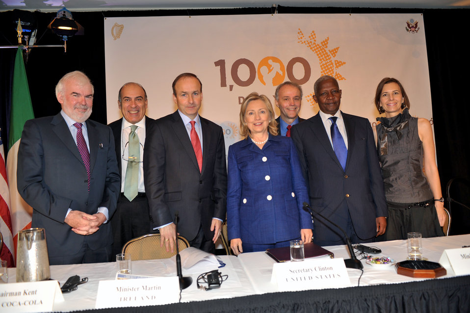 Secretary Clinton Participates in the '1,000 Days: Change a Life, Change the Future' Event