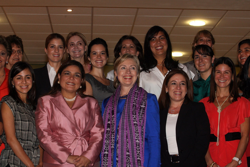 Secretary Clinton Moderates Women's Roundtable Discussion