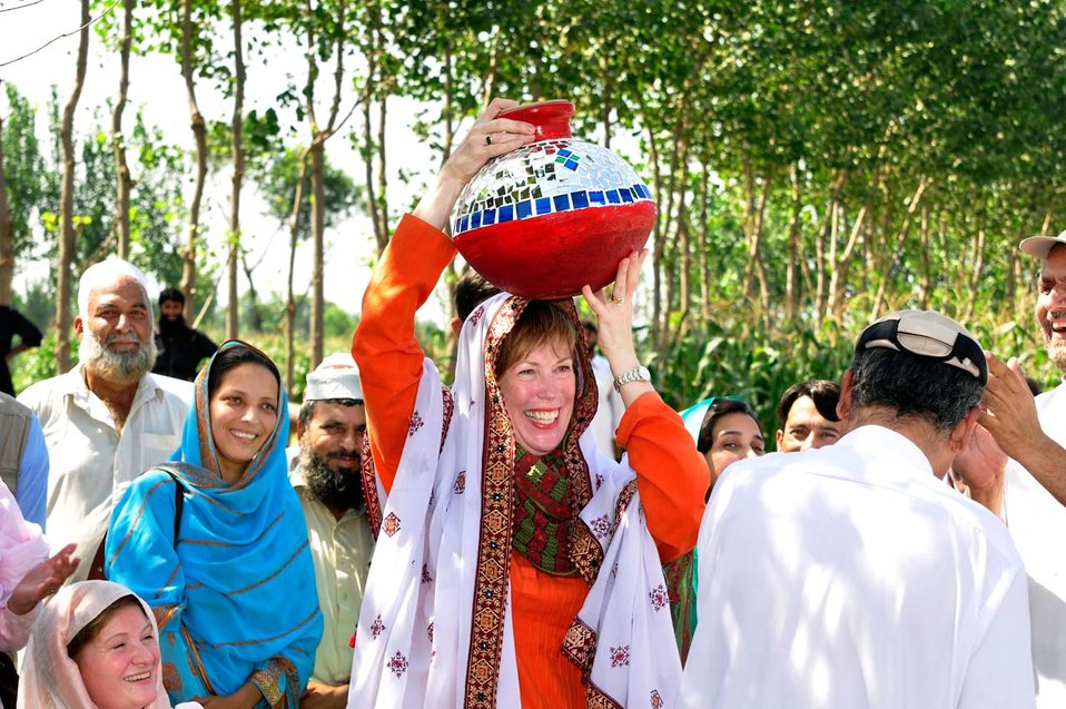 Dr. Marilyn Wyatt's Visit to the Flood-affected Farming Communities in Khyber Pakhtunkhwa
