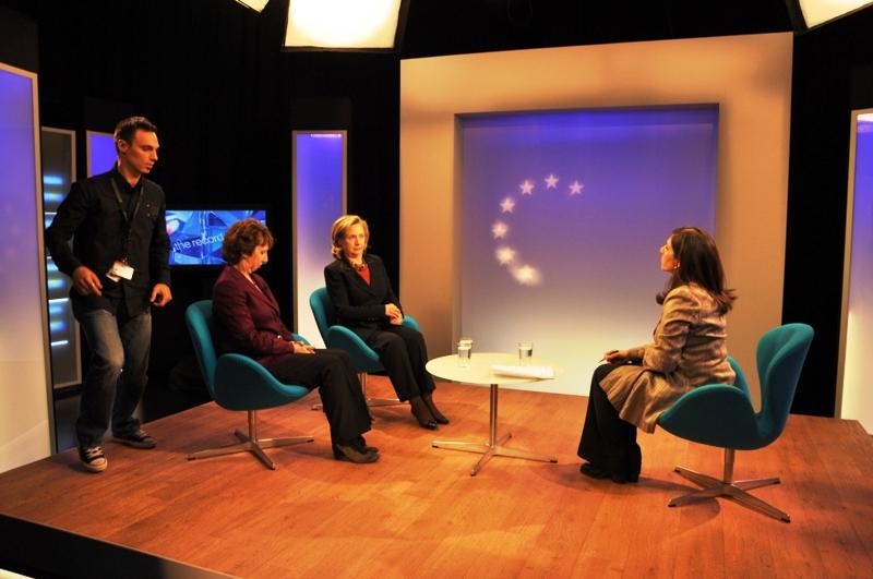 Behind the Scenes: Secretary Clinton and EU High Representative Ashton Participate in a Joint BBC Interview