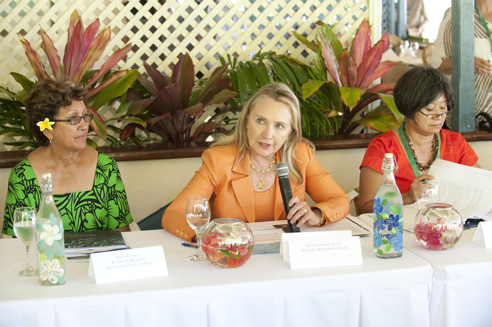 Secretary Clinton Delivers Remarks at the Rarotonga Dialogue on Gender Equality