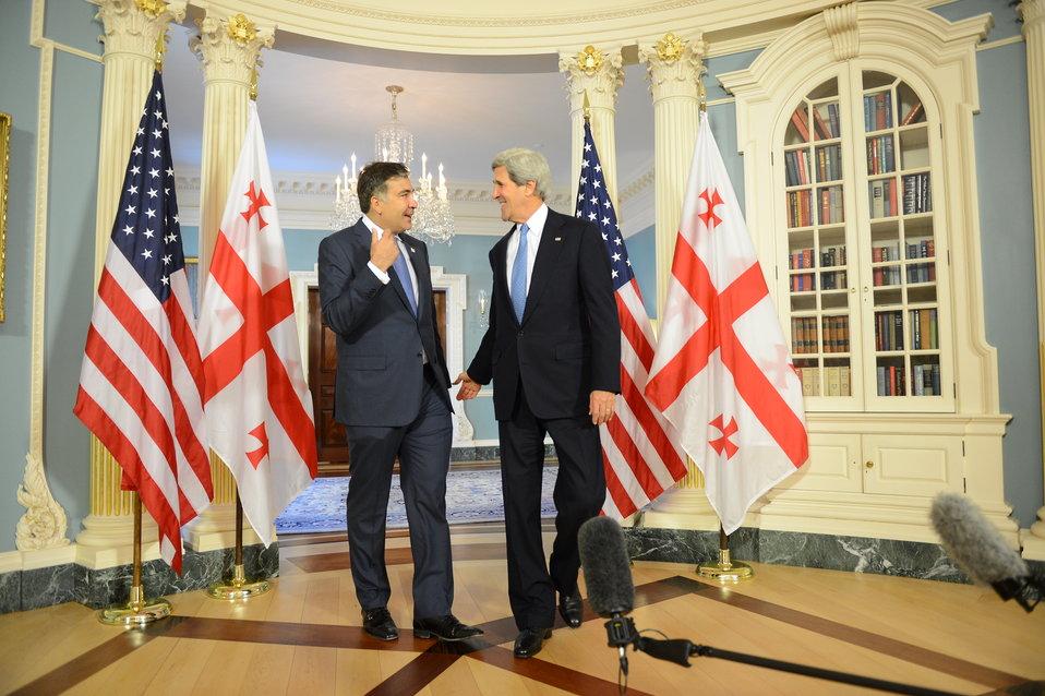 Secretary Kerry Meets With Georgian President Saakashvili
