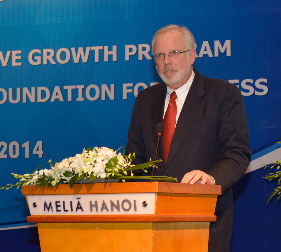 U. S. Ambassador David Shear speaks at the strategic kick-off workshop.