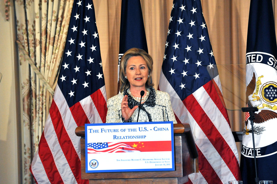 Secretary Clinton Delivers Remarks for the Inaugural Richard C. Holbrooke Lecture